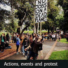 national grassroots environmental events and social justice events calendar for Australia