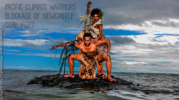 Environmental and social justice event - Pacific Climate Warriors Blockade of Newcastle Coal Port