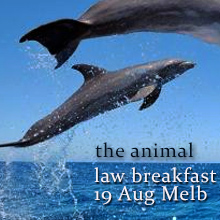 Environmental events - The Animal Law Breakfast - dolphins and the law