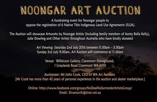 Noongar Art Auction Eco Shout